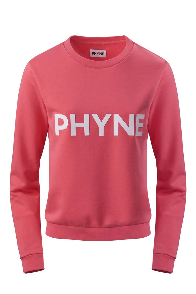 Phyne Print Organic Cotton Sweatshirt in Coral
