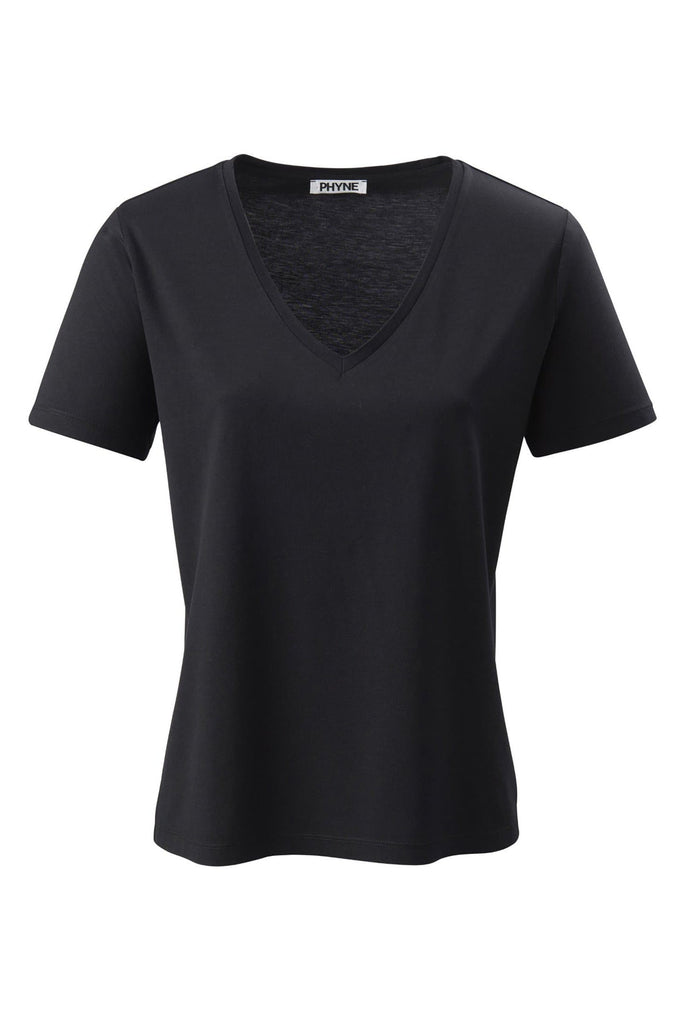 Organic TENCEL™ Lyocell V-Neck T-Shirt in Different Colors