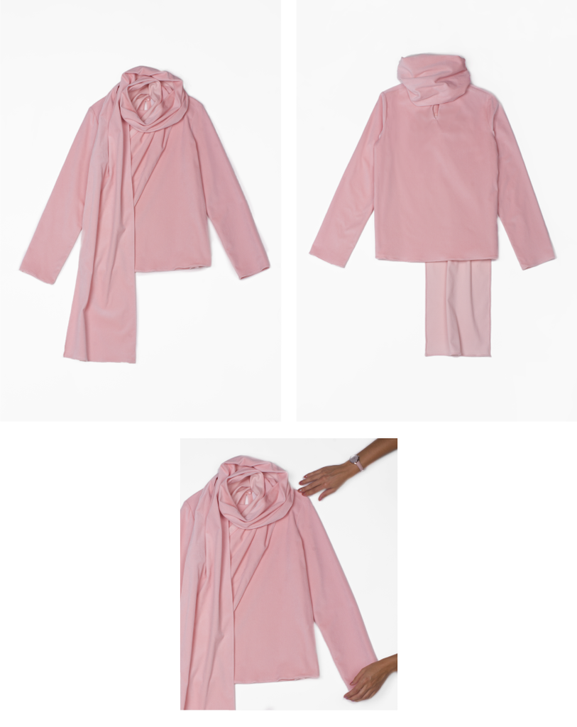 Sabik Organic Cotton Blouse in Pink