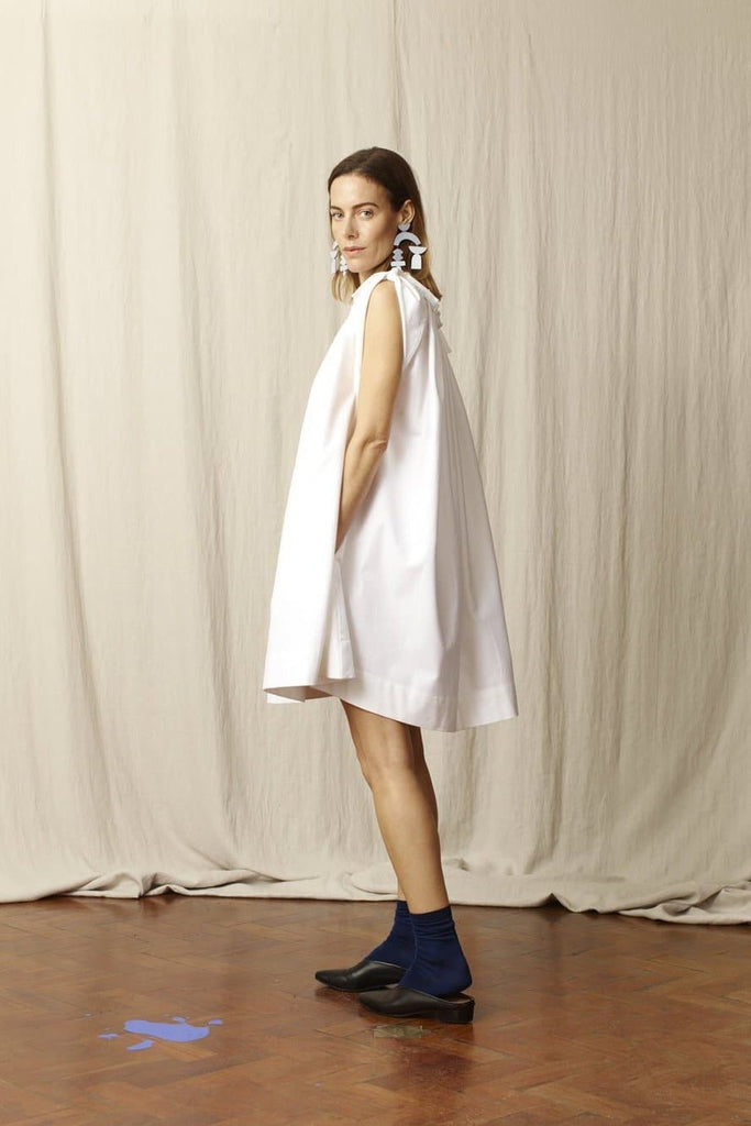 Molly Natural Cotton Dress in White