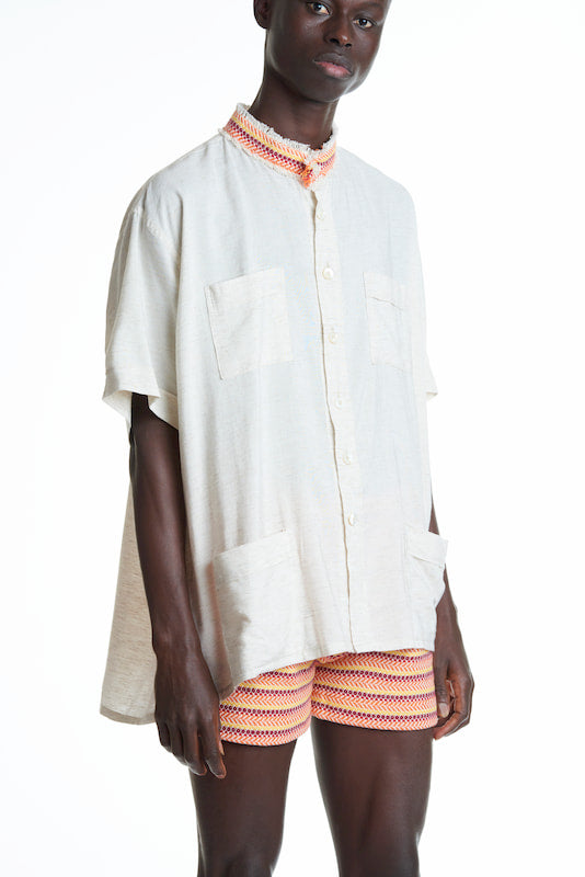 Papa Ethical Ordi & Medina Unisex Shirt in White