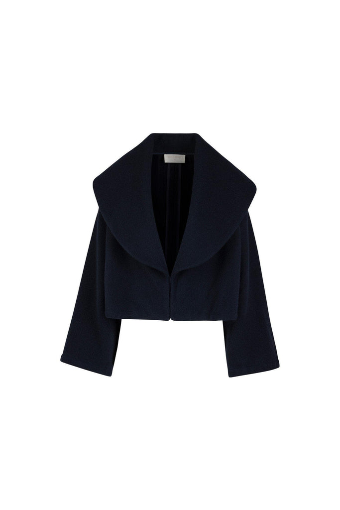 Crimson Ethical Cashmere Coat in Navy