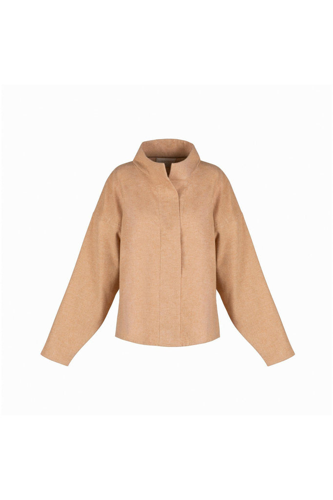 Elodie Ethical Organic Cotton Shirt in  Cinnamon