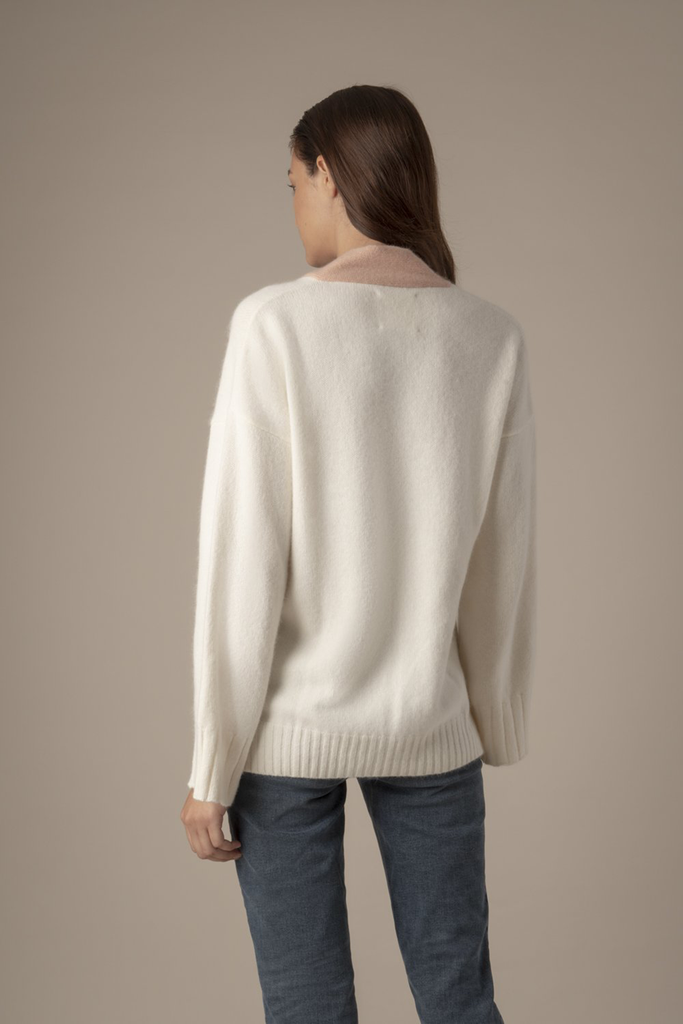 Esme Ethical Wool&Angora Sweater in White