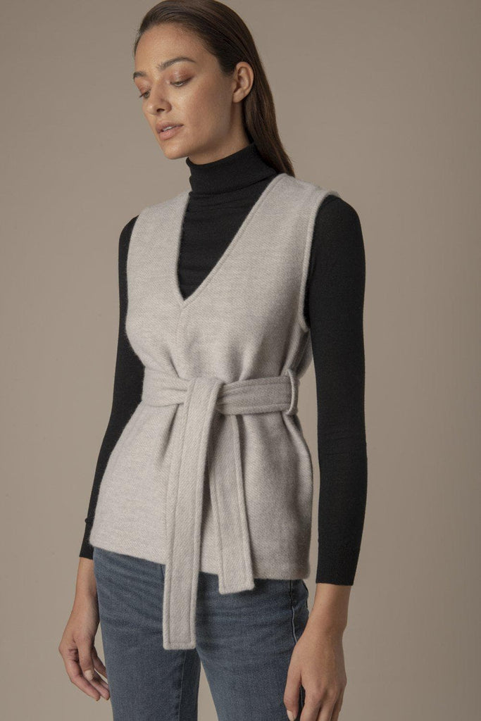 Theresa Ethical Alpaca & Wool Blend Top in Grey