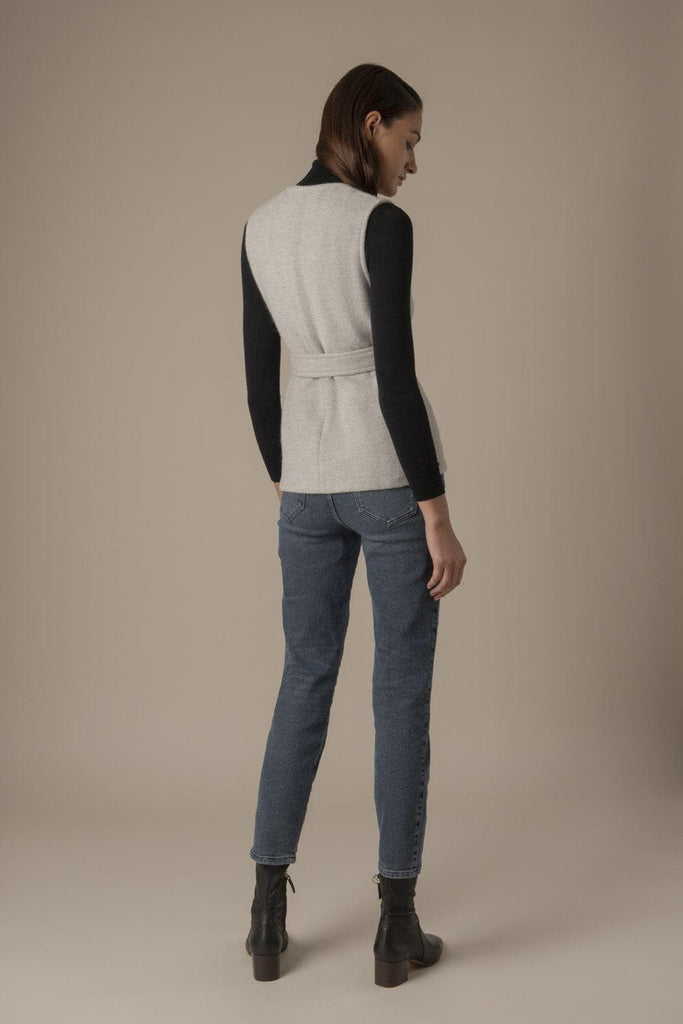 Theresa Ethical Alpaca & Wool Blend Top in Gray