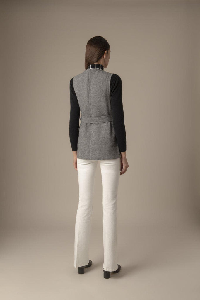 Alex Ethical Alpaca & Wool Vest in Grey