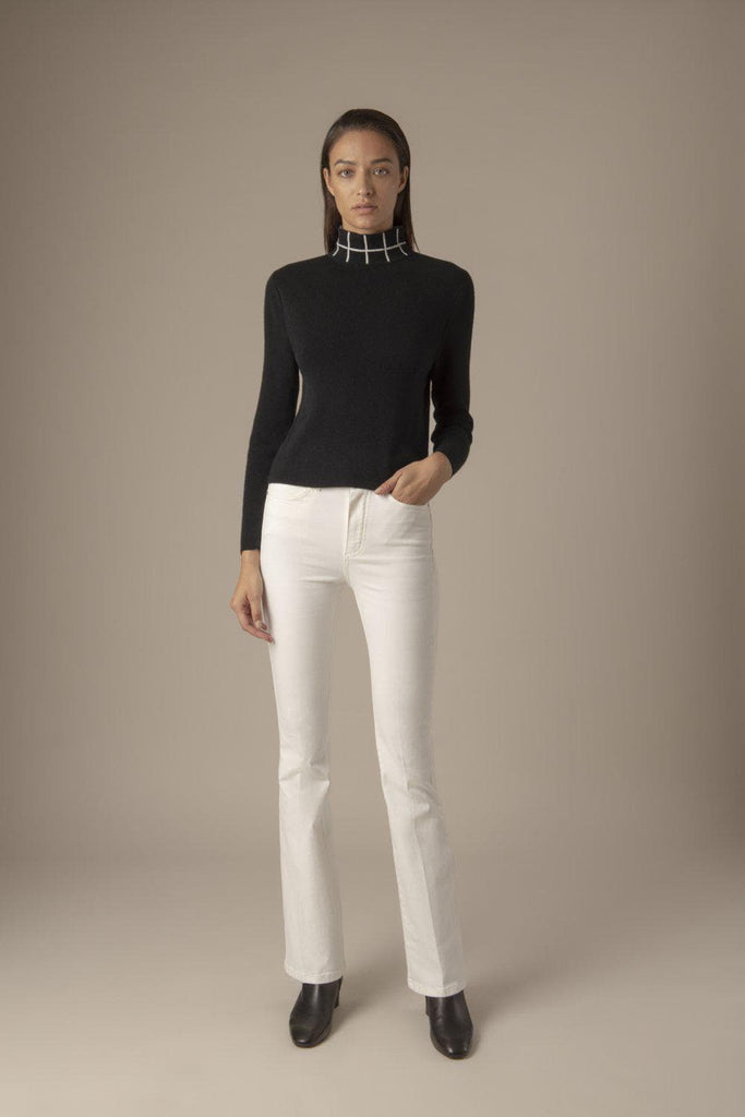 Alexia Ethical Wool & Cashmere Sweater in Black