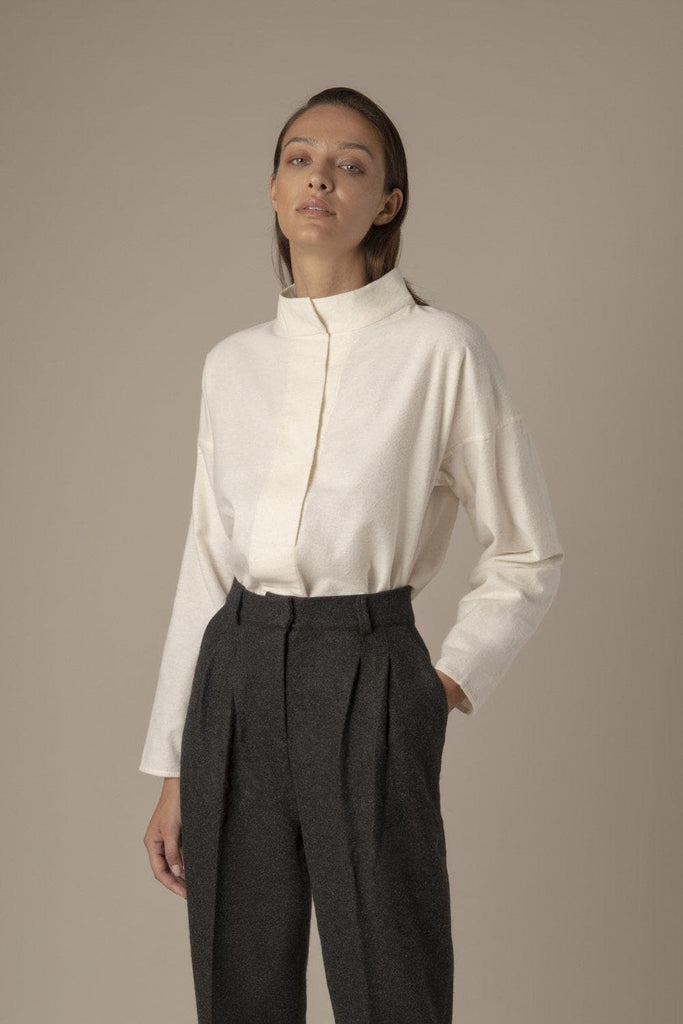 Elodie Ethical Organic Cotton Shirt in White