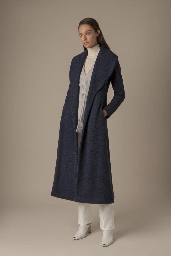 Imogen Ethical Cashmere Coat in Navy
