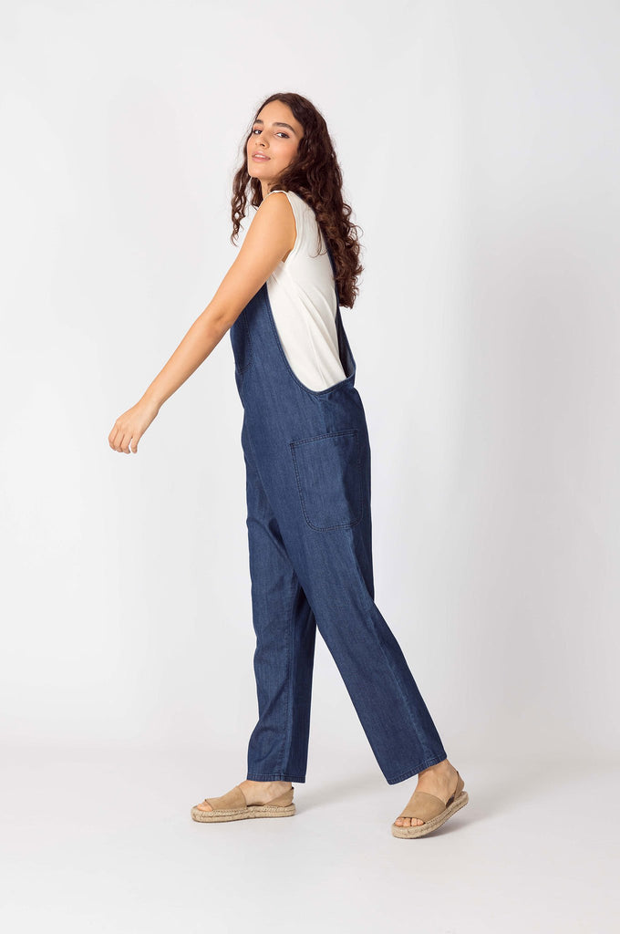 Dungarees Organic Cotton Jumpsuit in Blue Denim