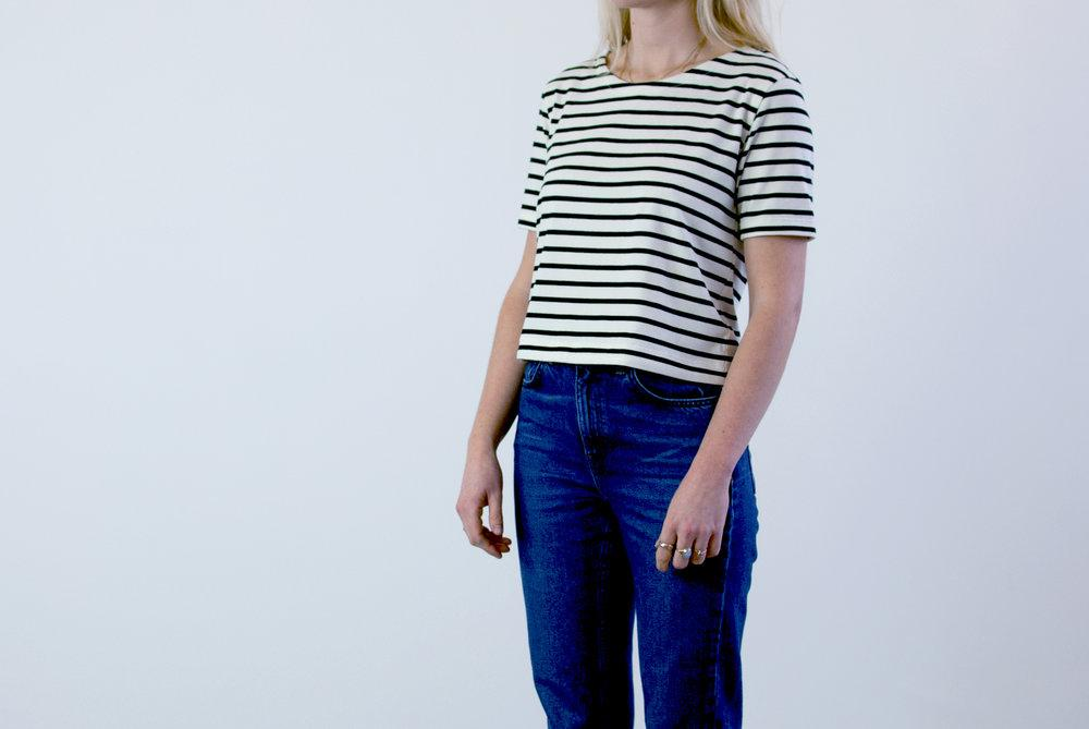 #036 Organic Cotton Striped T-shirt