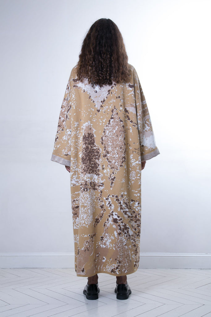 Sahara Handmade Cotton Long Kaftan in Earth Colors