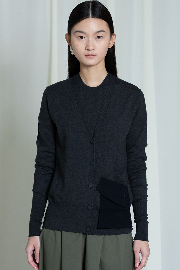 Devon Biodegradable Crabyon Sweater in Black
