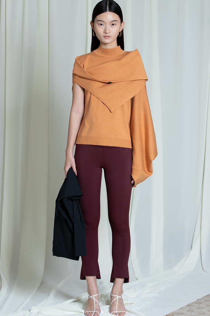 Kelly Biodegradable Crabyon Sweater in Burnt Orange