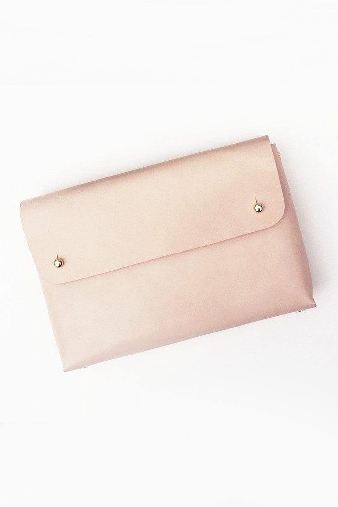 Mona Handmade Vegetable Leather Pouch in Nude