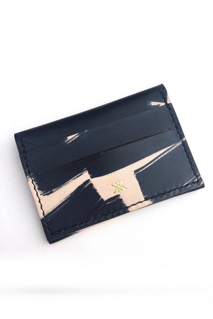 Maya Handmade Vegetable Card Holder in Black Pattern