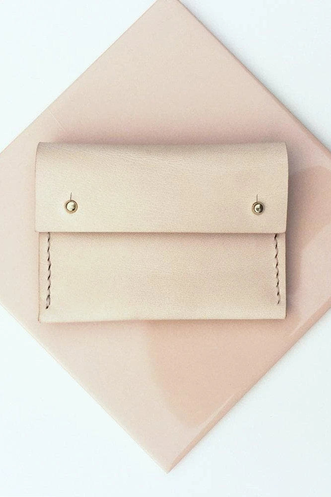 Maya Handmade Vegetable Leather Small Purse in Nude