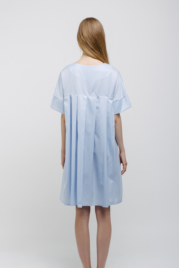 Organic Japanese Cotton Dress in Blue
