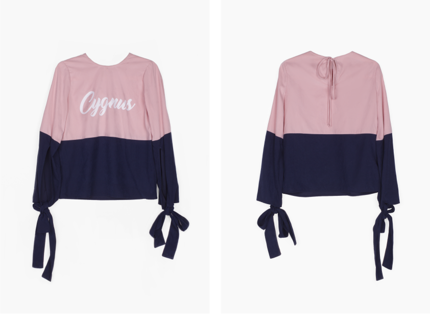Mira Recycled Polyester Blouse in Pink