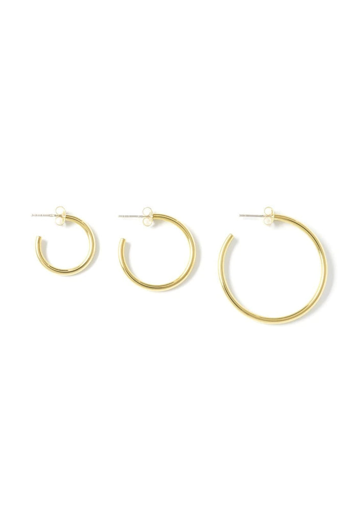 Handmade Classic Round Loops in Brass or Sterling Silver
