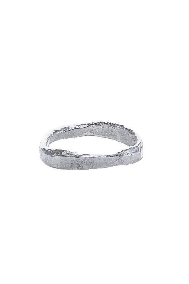 Melt Organic Recycled Sterling Silver Hammered Ring