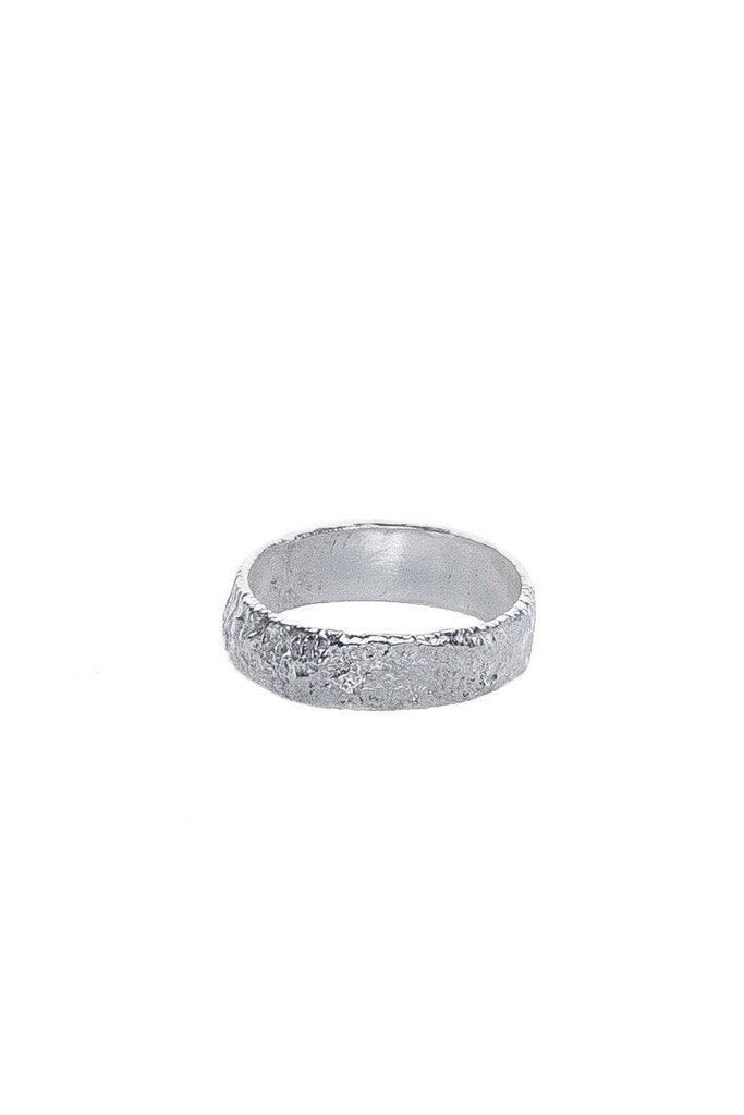 Melt Organic Recycled Sterling Silver Wrinkle Ring, Small