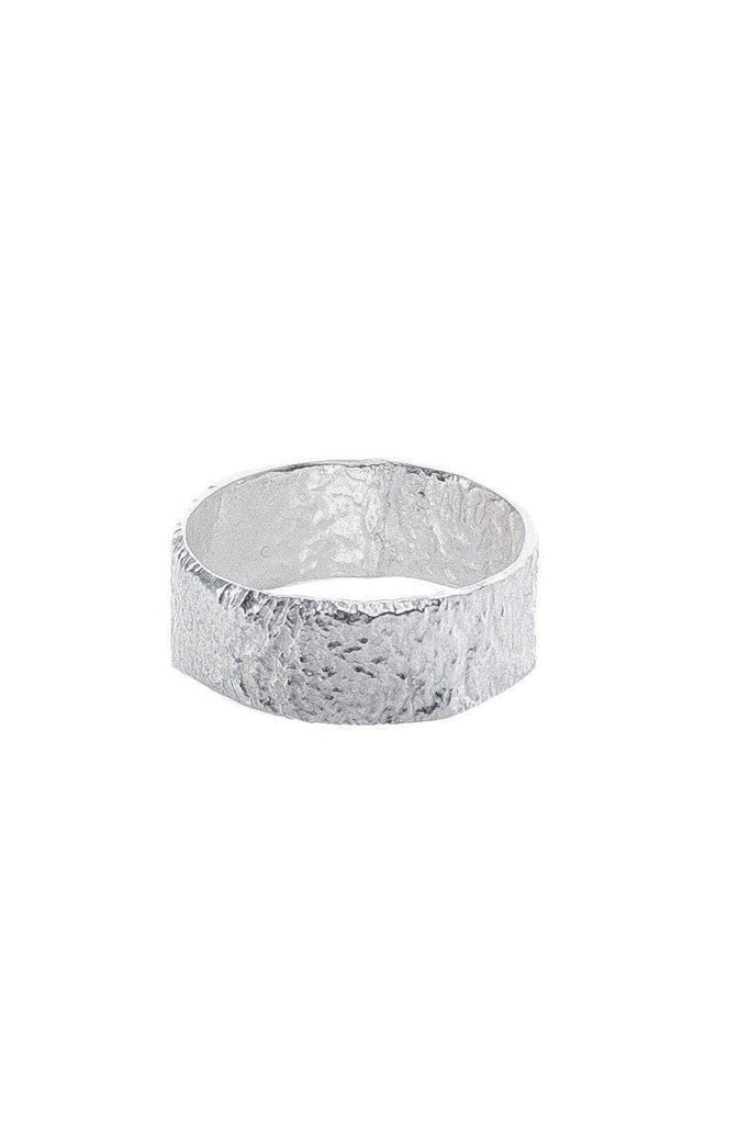 Melt Organic Recycled Sterling Silver Wrinkle Ring