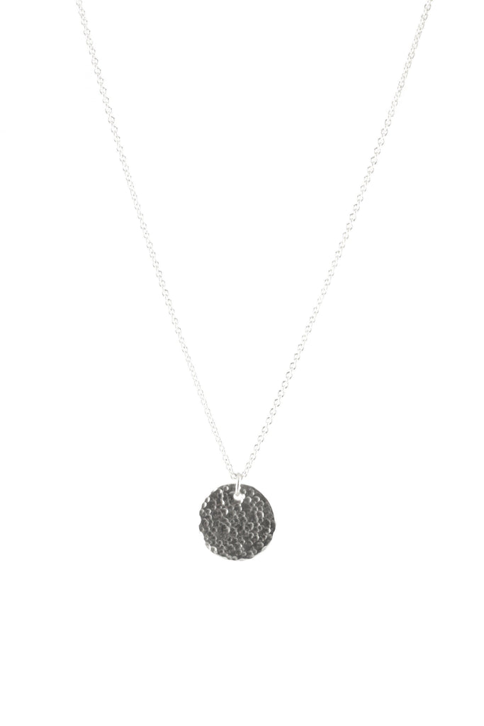 Full Moon Recycled Sterling Silver Necklace