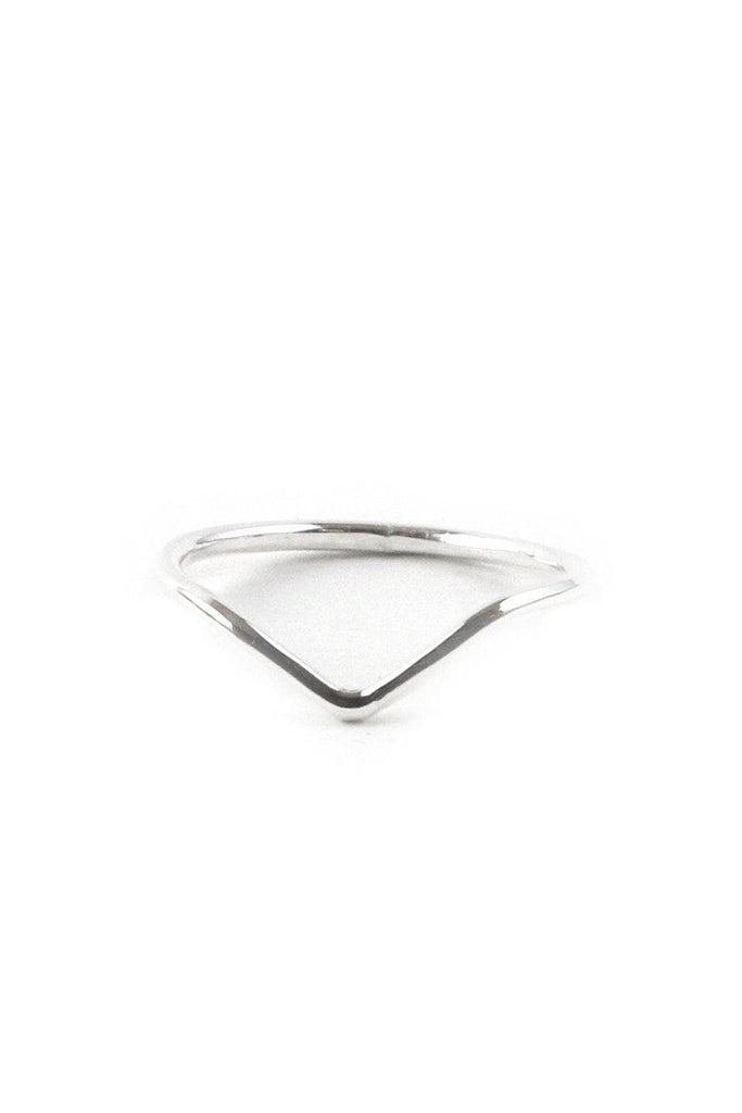 Chevron Recycled Sterling Silver Ring