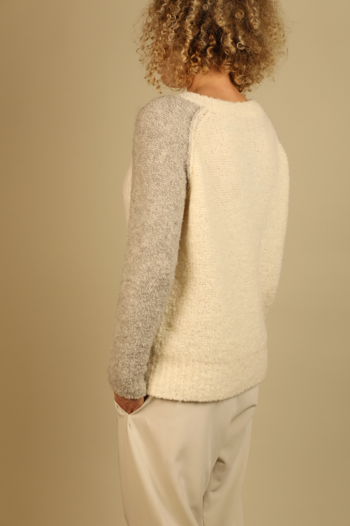 Ethical Alpaca & Wool Sweater in Off-White