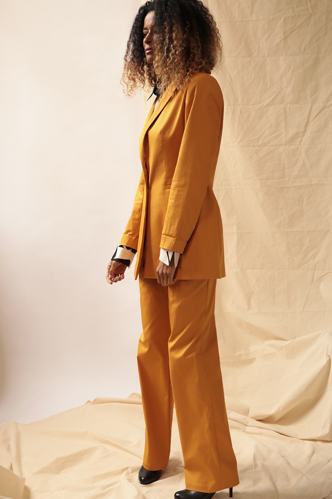Seline Ethical Cotton Suit in Dark Apricot