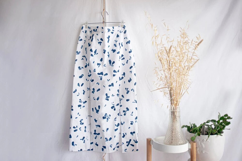 Batura Ethical Cotton Skirt in White