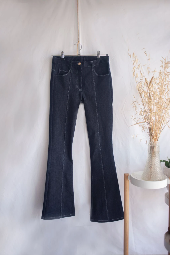 Fortuna Ethical Cotton Denim Jeans in Black