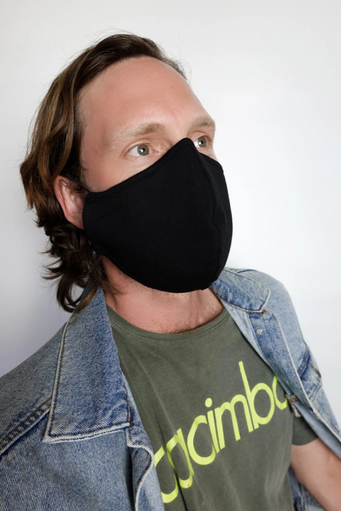 Pack of 2 Male Eco-Friendly Cotton Face Mask in Black & Gray