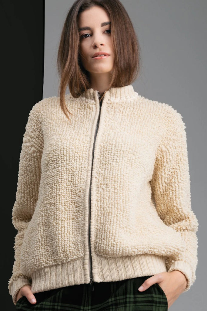 Astrantia Handmade Wool Sweater in Nude
