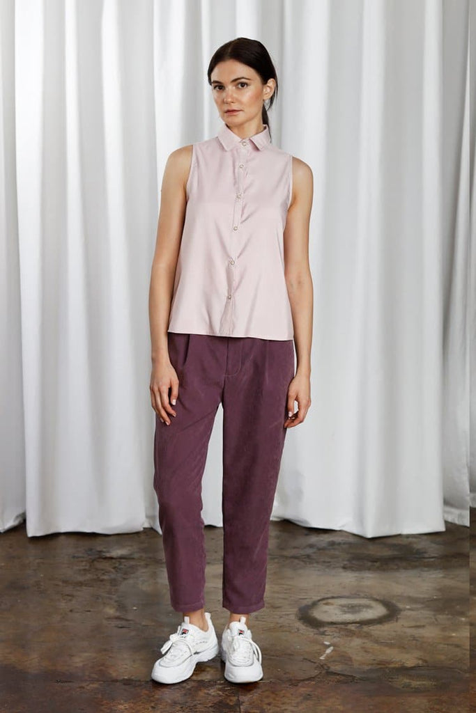 Ainsworth Vegan Shirt in Stand Out Lilac