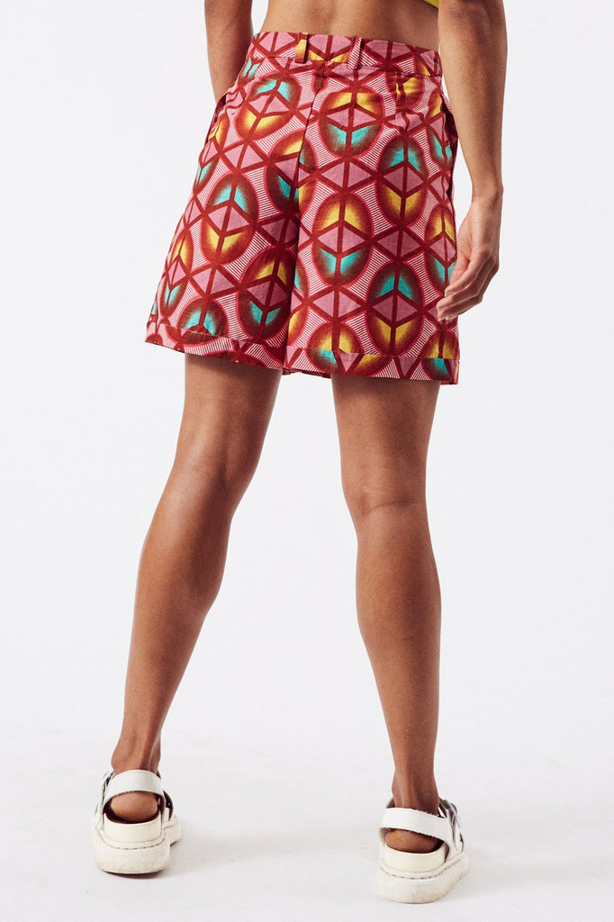 Sustainable Cotton Shorts in Pink Print