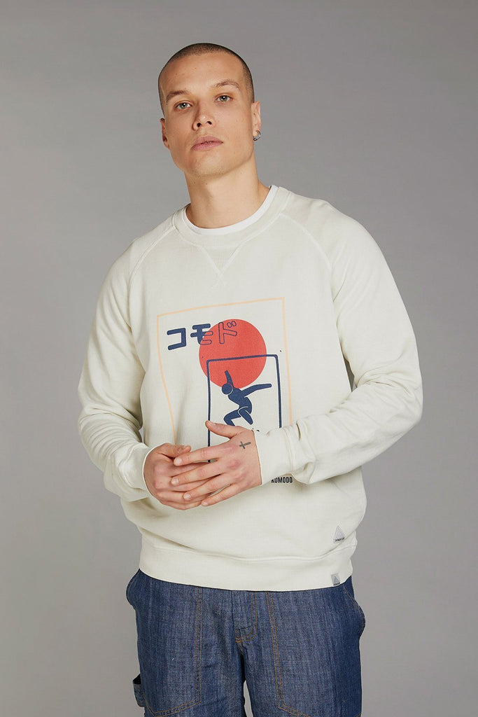 Anton SK8 Team Japan Organic Cotton Sweater in White