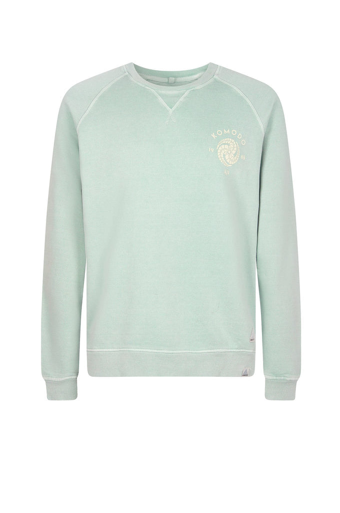 Anton Crest Organic Cotton Men's Sweater in Mineral Green