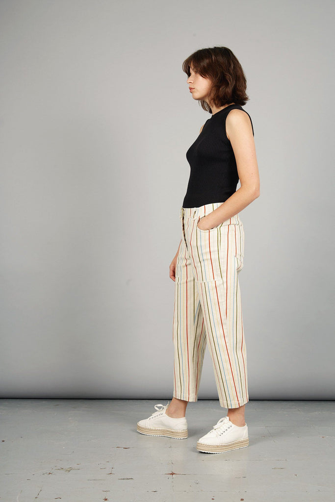 D-Side Organic Cotton Jeans in Stripes Print