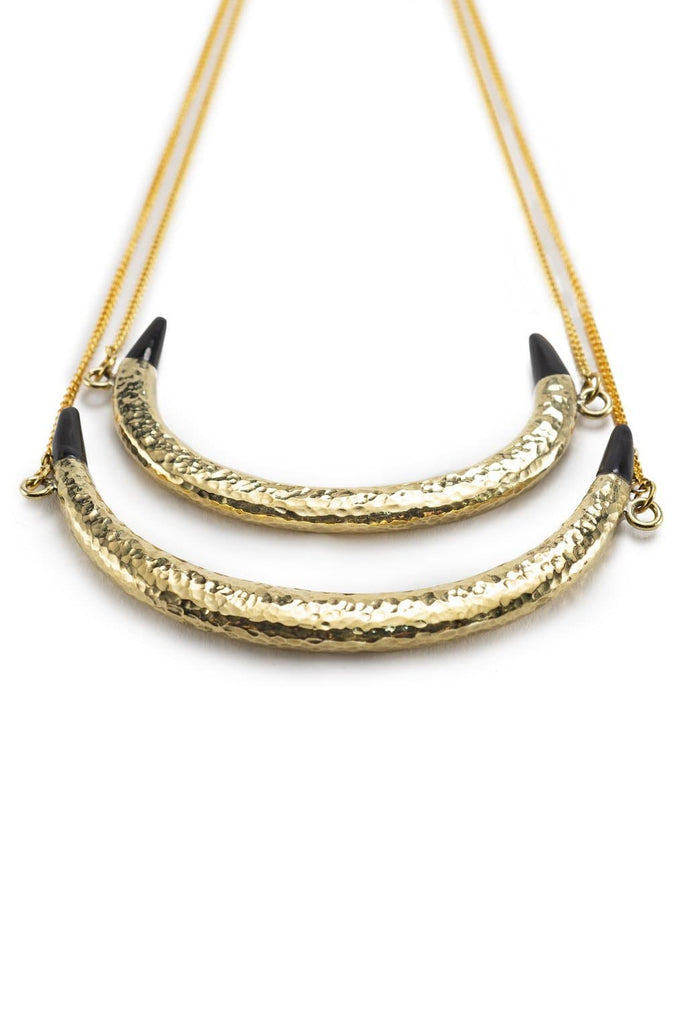 Ambira Recycled Double Chain Brass Necklace