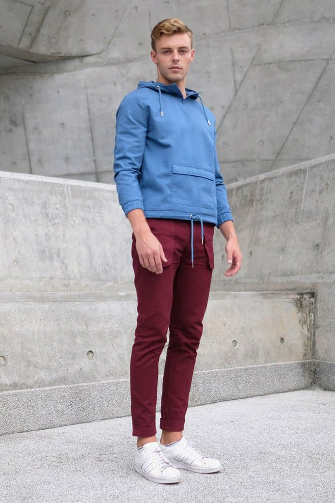 Arlington Vegan Chino Trousers in Bordo
