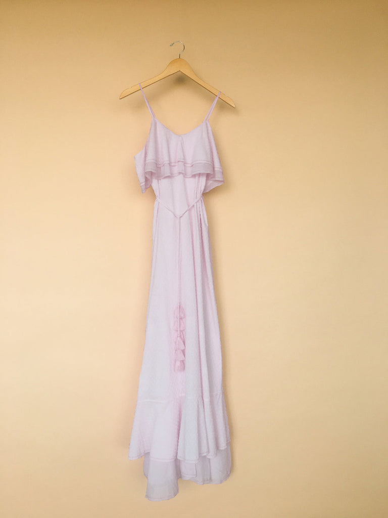 Cassiopeiae Handmade Cotton Dobbie Dress in Orchid