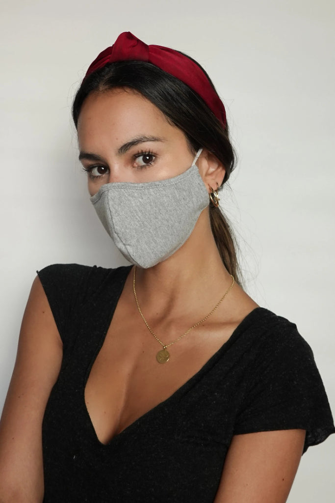 Pack of 2 Female Eco-Friendly Cotton Face Mask in Black & Gray