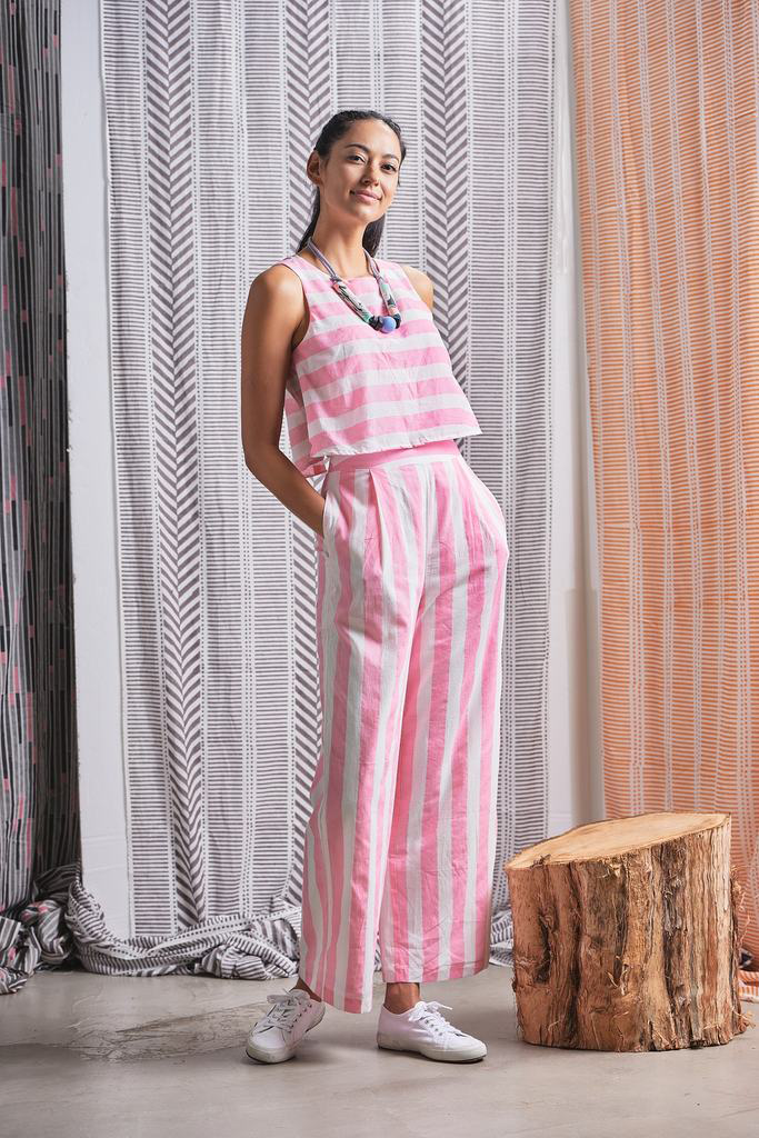 Baarish Organic Cotton Jumpsuit in Pink