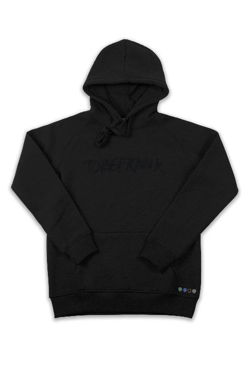 Ellis Recycled Cotton & Polyester Unisex Hoodie in Black