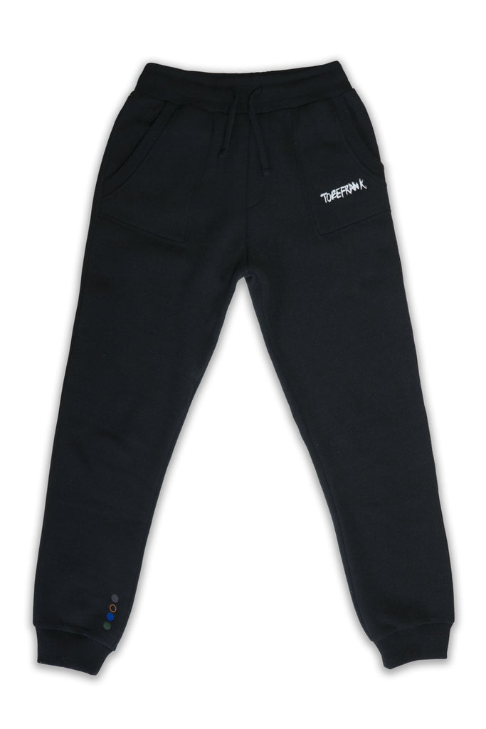 Nelson Recycled Cotton & Polyester Unisex Joggers in Black
