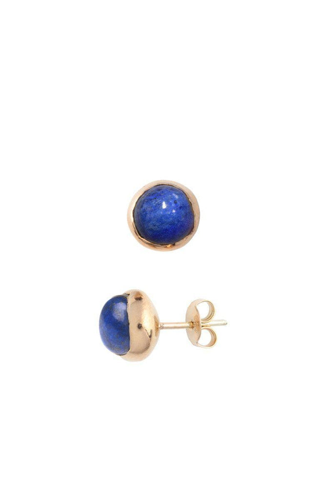 Blossom Recycled Rose Gold Plated Silver Earrings - Lapis Lazuli