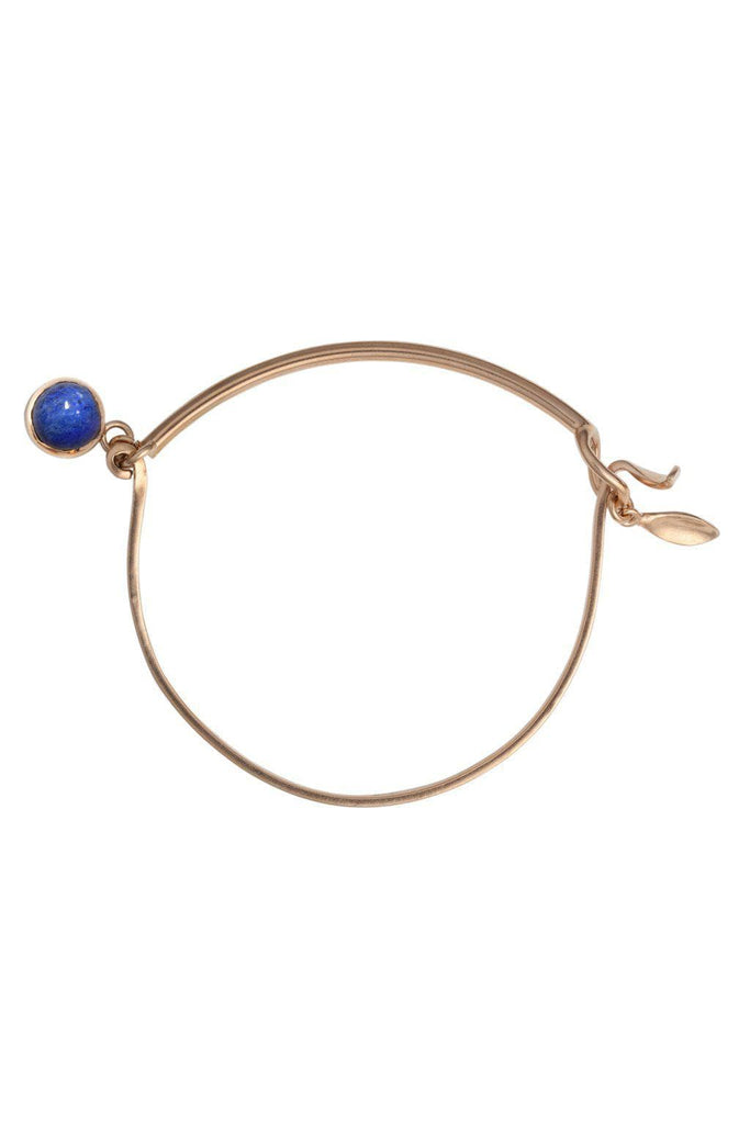 Blossom Recycled Rose Gold Plated Silver Bracelet - Lapis Lazuli